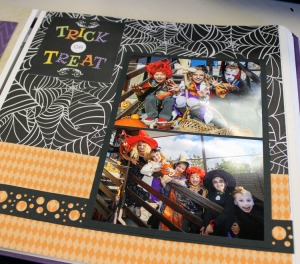 Trick or Treat Page Layout