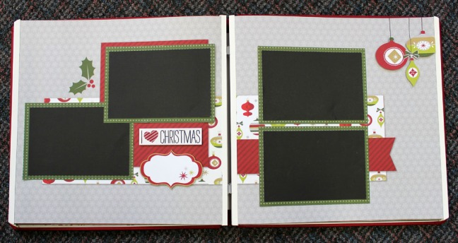 Holiday Page Layout After Decoration