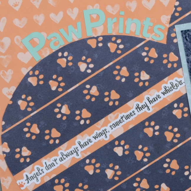 Loveable Paw Prints Border Maker Cartridge Scrapbook Page Creative